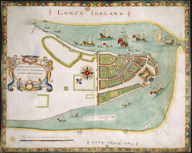 Plano de Nueva Amsterdam, 1661