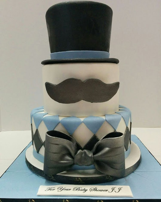 SanPietro Bakery — mo' cake for movember 🎩#moustache #tophat...