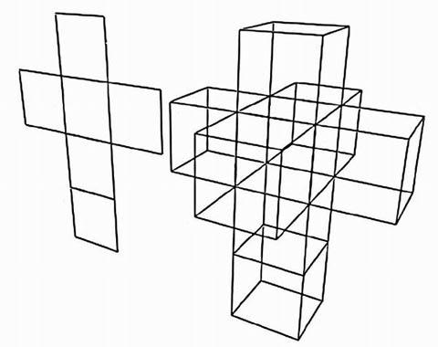 Cubo e hipercubo desdoblados