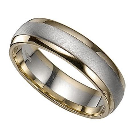 Groom's 9ct Two Colour Gold Ring   H.Samuel