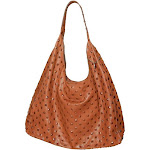 Streets Ahead Carrie Pyramid Embossed Leather Hobo (Ranch)