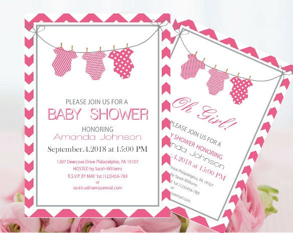 Onesie Invitation Template – 15+ Free PSD, Vector EPS, AI, Format ...