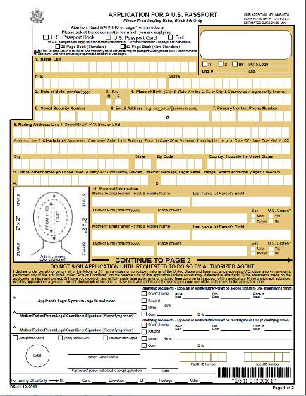 New Form For Us Passport Renewal