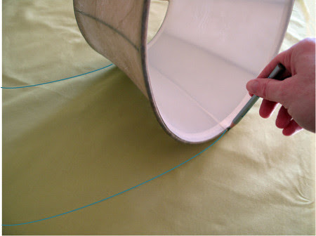 Lamp Shade Slip Cover Tutorial 2