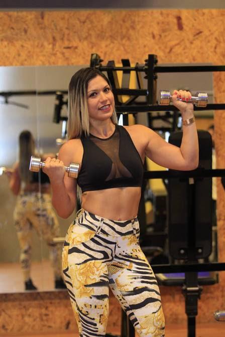 Anna faz participações em eventos fitness