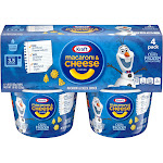 Kraft Olaf's Frozen Shapes Mac & Cheese 4pk Cups - 7.6oz