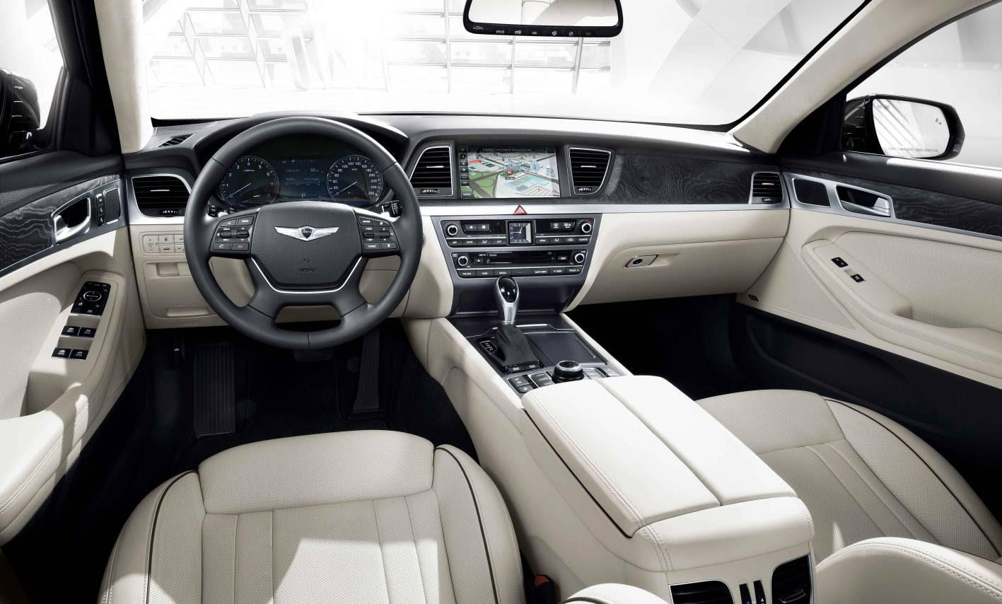 2014 Hyundai Genesis sedan interior dashboard  ForceGT.com