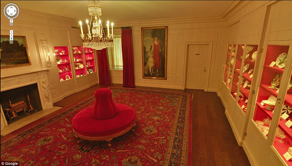 Woman in Red: Former First Lady, Grace Goodhue Coolidge takes prime position in the 'China Room'