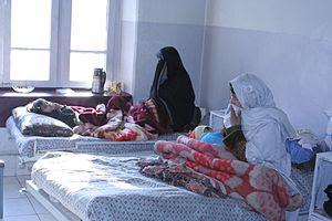Afghan women at a hospital in Kabul, Afghanistan.
