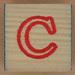 Wooden Brick Letter C