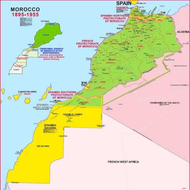 Resultado de imagen de Marruecos map