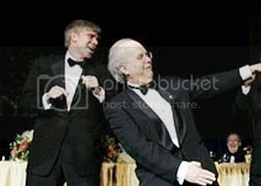 David Gregory and Karl Rove dancing