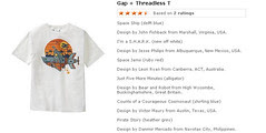 Gap + Threadless T