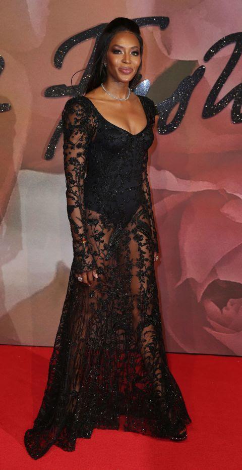 naomi campbell british fashion awards