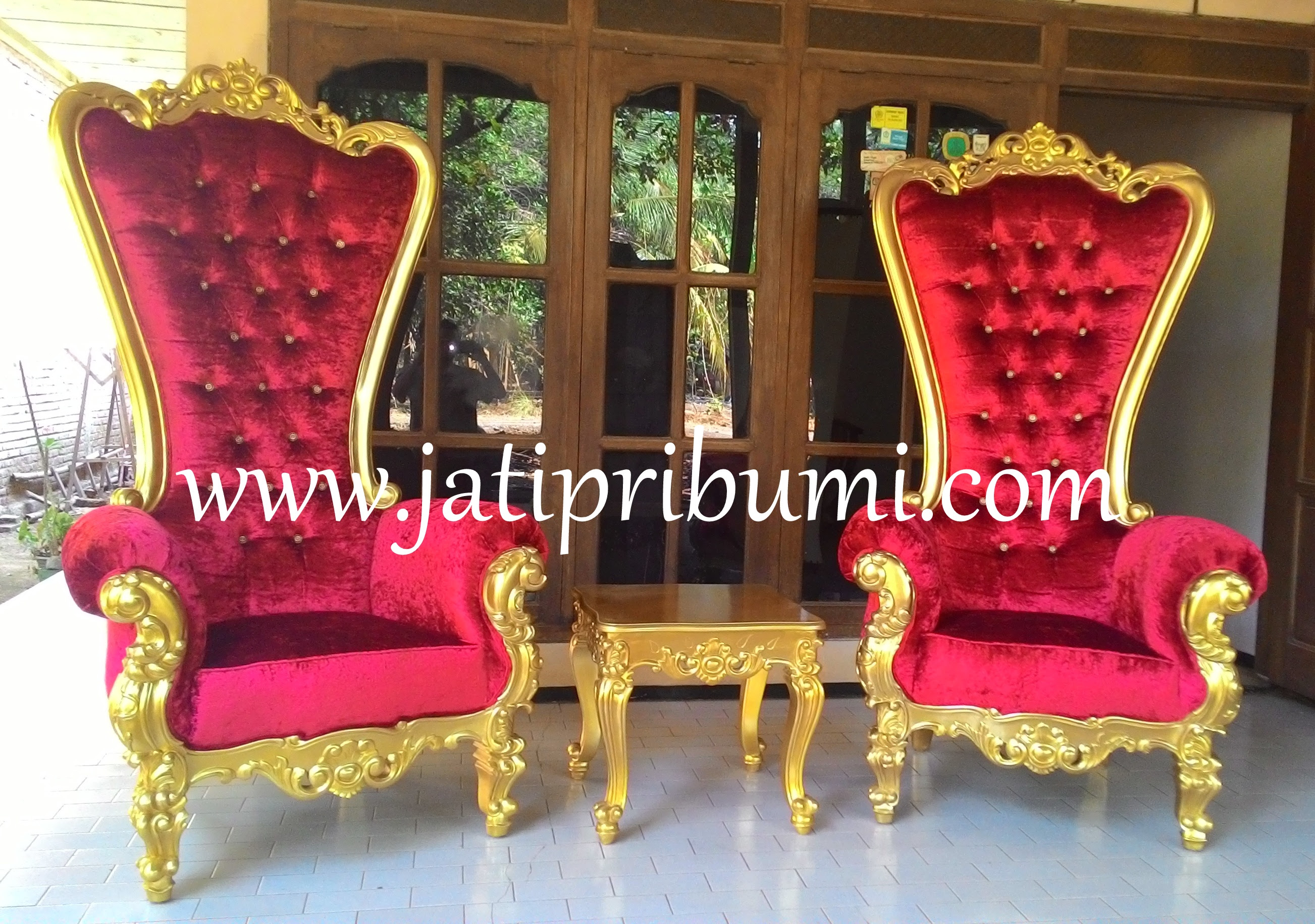 Set Kursi Sofa Ukir Jepara Princess Roche Jati Pribumi