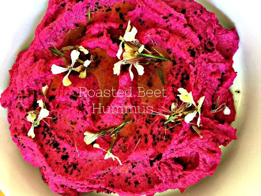 Roasted Beet Hummus - California Greek Girl