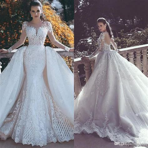 2017 New Backless Mermaid Lace Wedding Dresses With