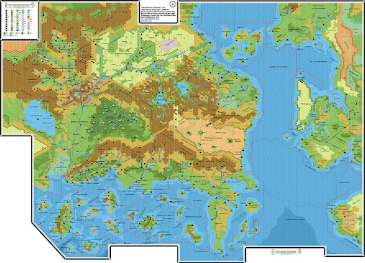TM1 & TM2 Western and Eastern Countries, 8 miles per hex | Atlas of Mystara