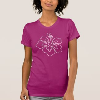 Hibiscus flower illustration t-shirt