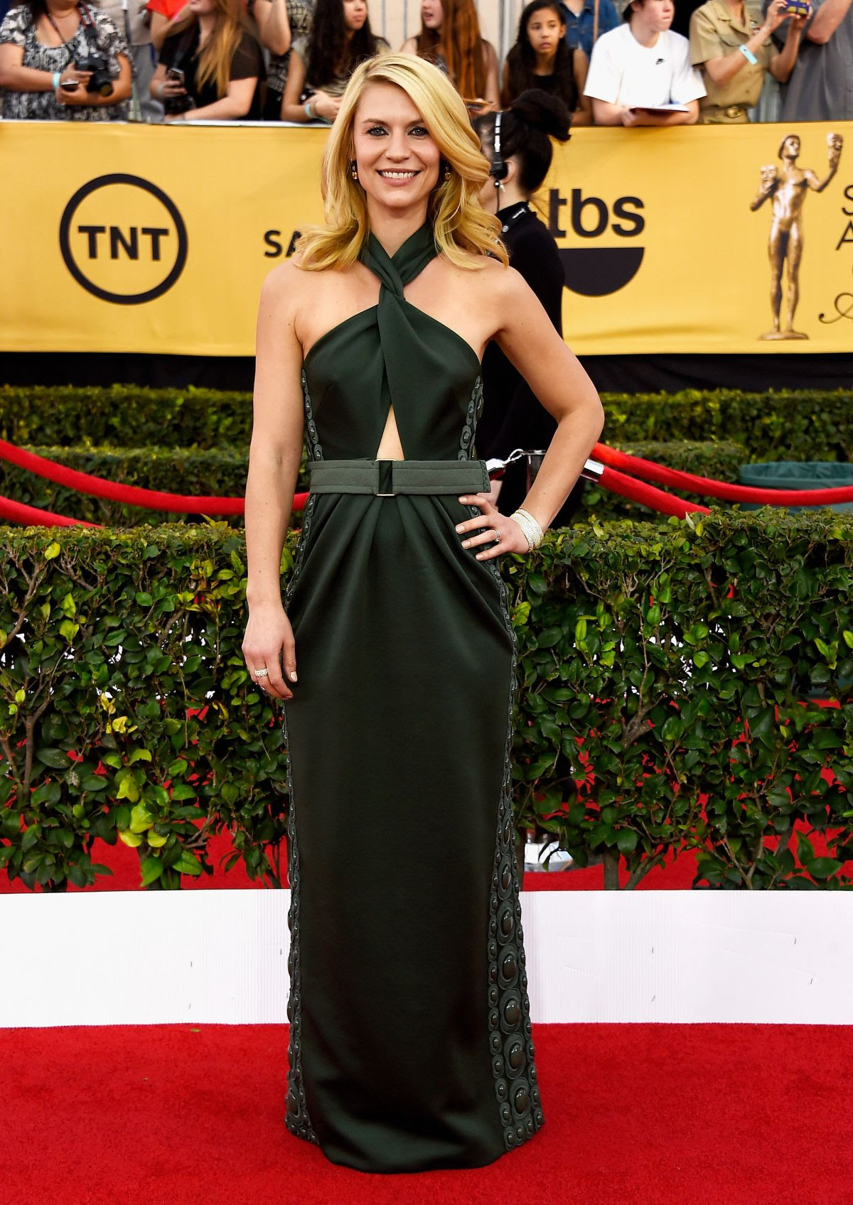 CLAIRE DANES at 2015 Screen Actor Guild Awards in Los Angeles