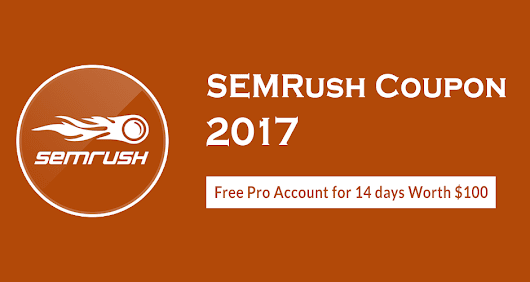 SEMRush Coupon: SEMRUSH Free Trial Pro Account Promo code