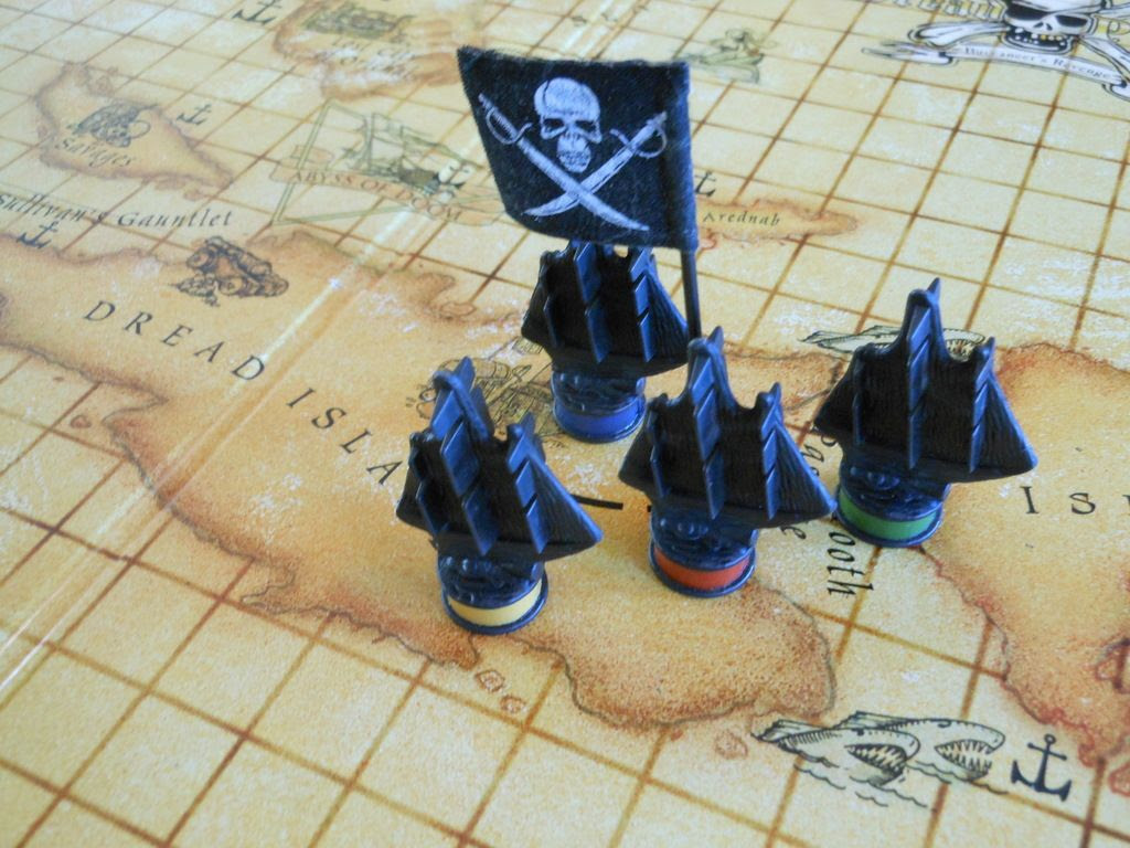 A fleet of pirate ships set sail under the Jolly Roger in Dread Pirate: Buccaneer's Revenge.