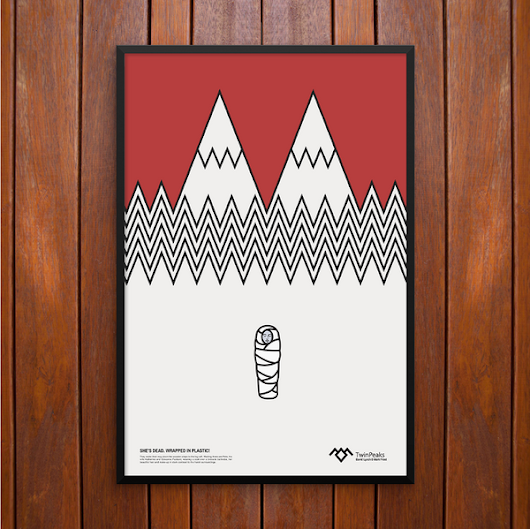 Wrapped in plastic, Twin Peaks Poster or Framed Print, Laura Palmer – Sauls Creative