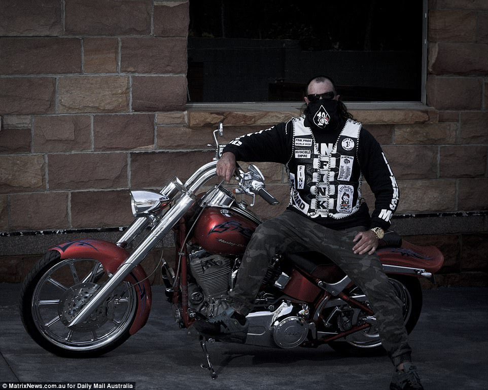 Big M explained the 'family' and 'brotherhood' notions were pillars for the club - on top of the love for motorcycles(another member pictured)