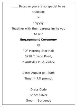 Engagement Ceremony Invitation Wordings,Engagement