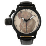 golden labrador dog portrait realist art wrist watch