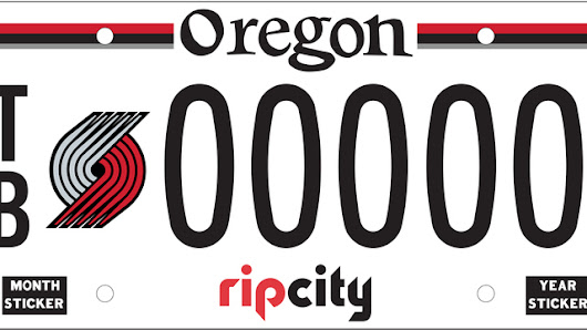 Blazers license plates to go on sale Sept. 1