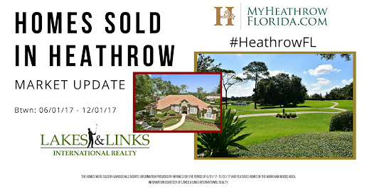 Market Update: Home Sales in Heathrow June-December 1 2017 - Heathrow Florida: Experience Seminole County in North Orlando