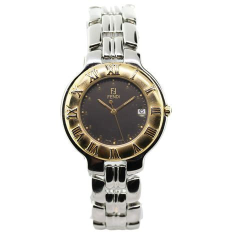 Fendi 900G Two Tone Round Face Mens Watch