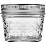 Ball 12ct 4oz Quilted Crystal Jelly Jar with Lid and Band - Regular Mouth