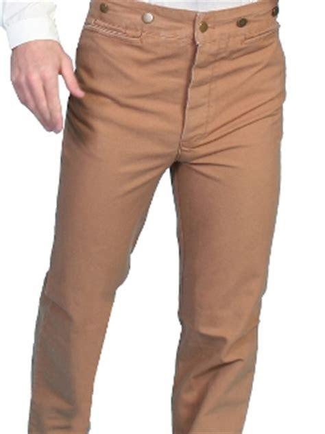 Mens Rangewear Brown Cotton Canvas suspender pants
