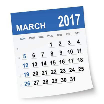March 2017 Calendar Clipart – 2017 March Calendar