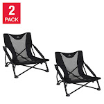 Cascade Mountain Tech Low Profile Camp Chair, 2-Pack