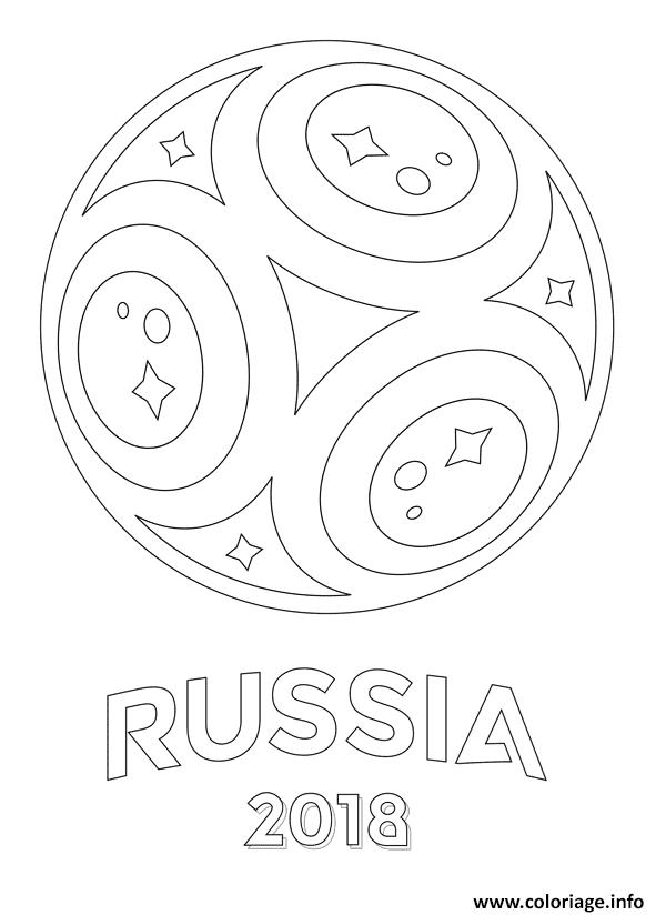 Coloriage Coupe Du Monde 2018 Russie Fifa Jecoloriecom