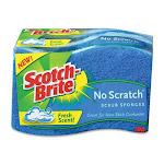 3M Scotch-Brite Multi Purpose No Scratch Scrub Sponge - 3 Ea