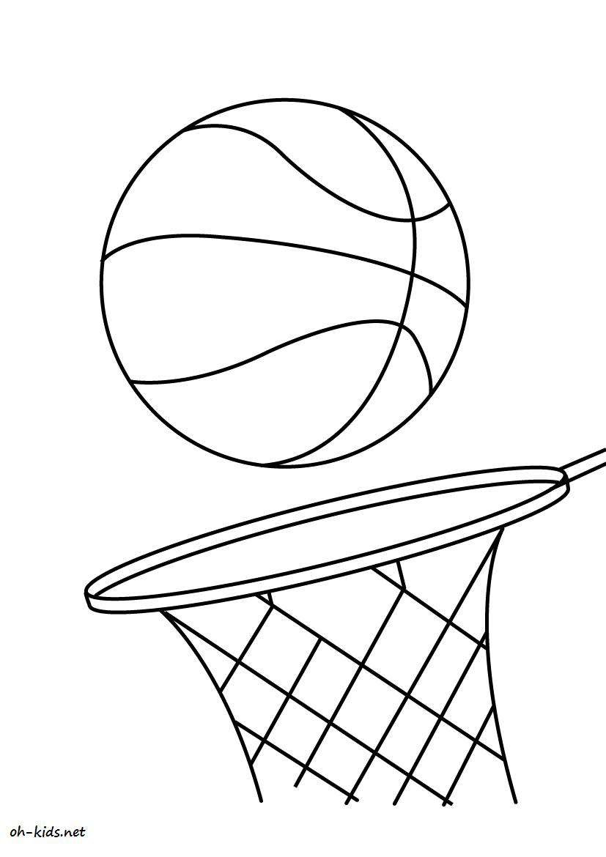 coloriage basketball gratuit Dessin 805