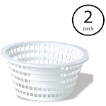Swimline Olympic ACM88 Replacement Swimming Pool Skimmer Basket White (2 Pack) by VM Express