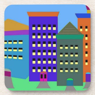 City Art on Cork Coasters