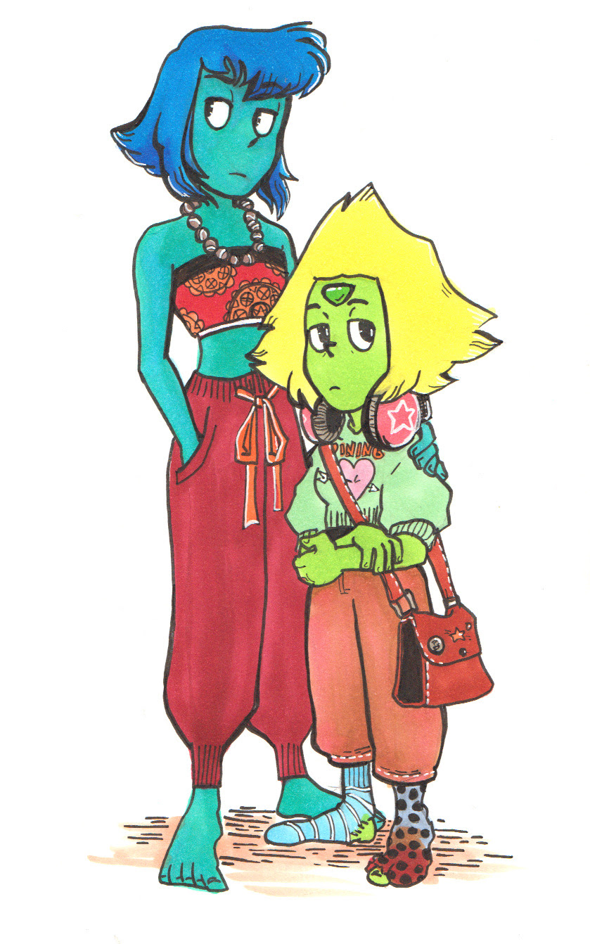 I needed to draw Lapis in a hippy outfit