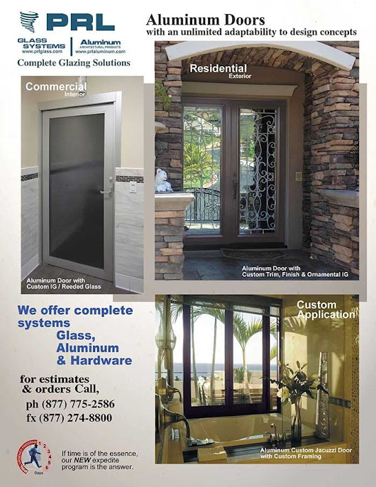 Aluminum & Glass Door Manufacturer | PRL Architectural Glass and Metal News