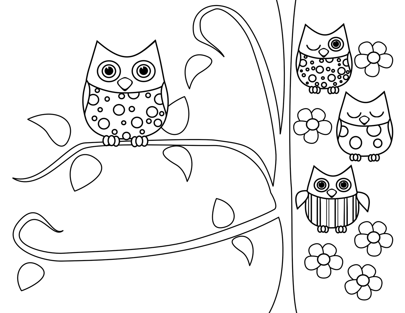 47 Coloring Book Pages Of Owls HD