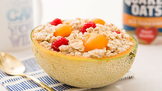 Make Oatmeal Overnight in a Cantaloupe and Wake Up to a Super Easy Breakfast