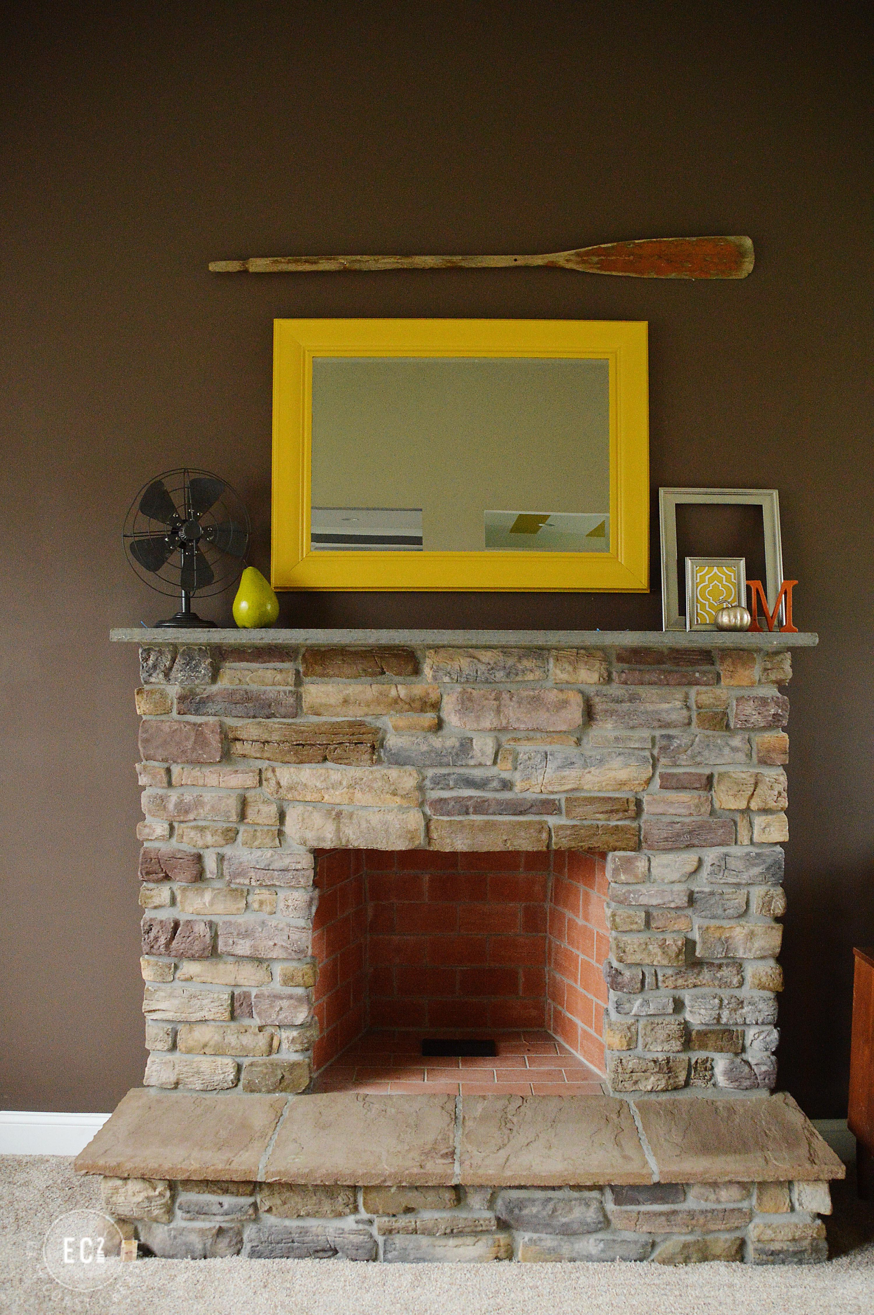 Mid-Century Modern Fireplace Update