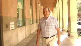 El fins avui president del PP de Palma, José María Rodríguez, arribant aquest dilluns a la seu del partit
