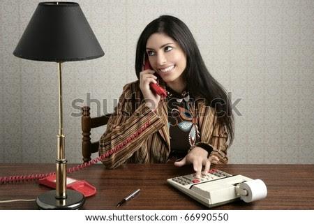 accountant retro secretary