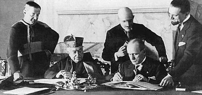 Assinatura do Tratado de Latrão